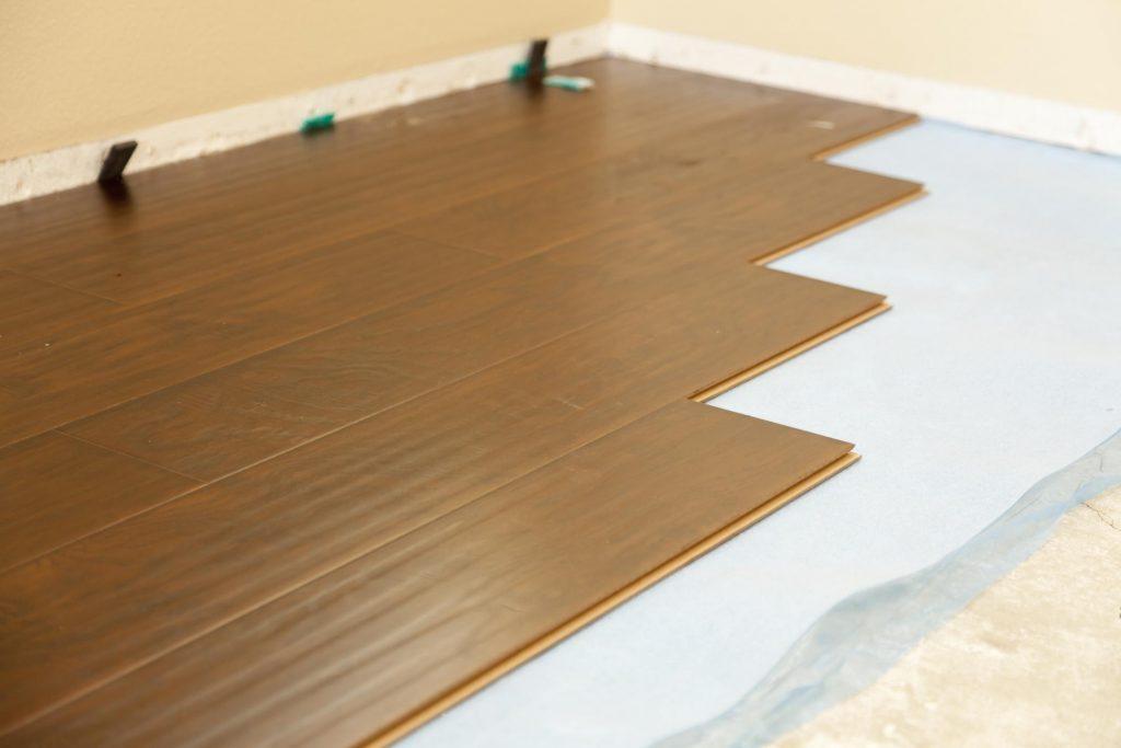 unfinished wood floor installation